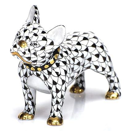 Amazon com: Herend Puppy Dog Frenchie Porcelain Figurine Black