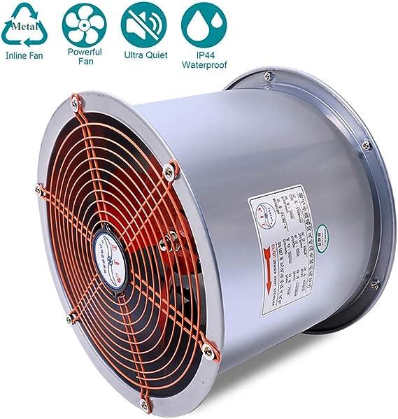 120W Industria Tubo Ventilador Extractor de Aire en Línea con Motor de Dos-velocidades ø355 mm para Oficina, Hotel, Baño - 2200m³/h Ventilación: Amazon.es: Hogar