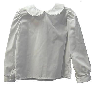 e09da1e27 Amazon.com: Funtasia Too Girls Infant & Toddler White Piped Blouse ...