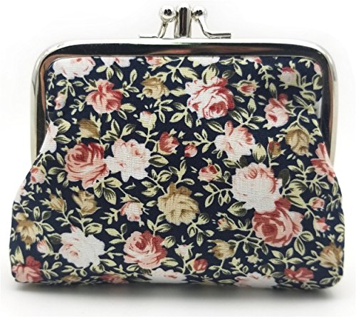 Amazon.com: Monedero con hebilla exquisito, floral ...