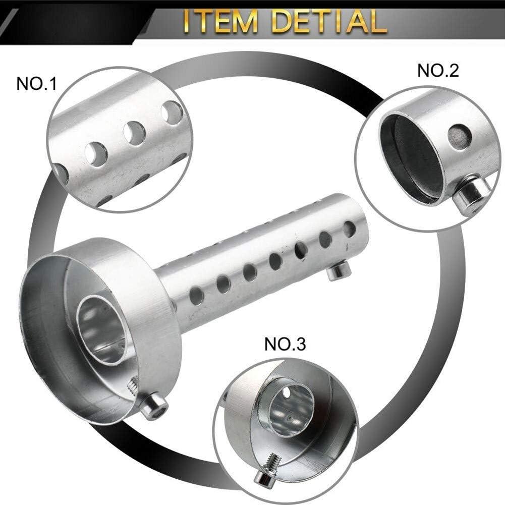 Motocicleta silenciador DB Killer extra/íble Silenciador deflector 35 mm 42 mm 45 mm 48 mm 60 mm universal Chrome Color : Silver 4.2cm