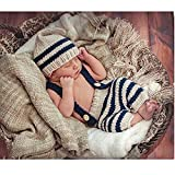 Fashion Cute Newborn Baby Photography Props Outfits Boy Girl Crochet Knitted Hat Pant