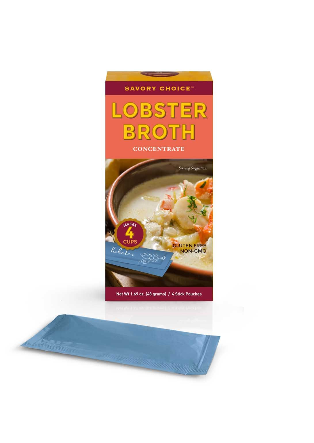 Savory Choice Lobster Broth Concentrate, Lobster, 1.69 Ounce (Pack of 12)