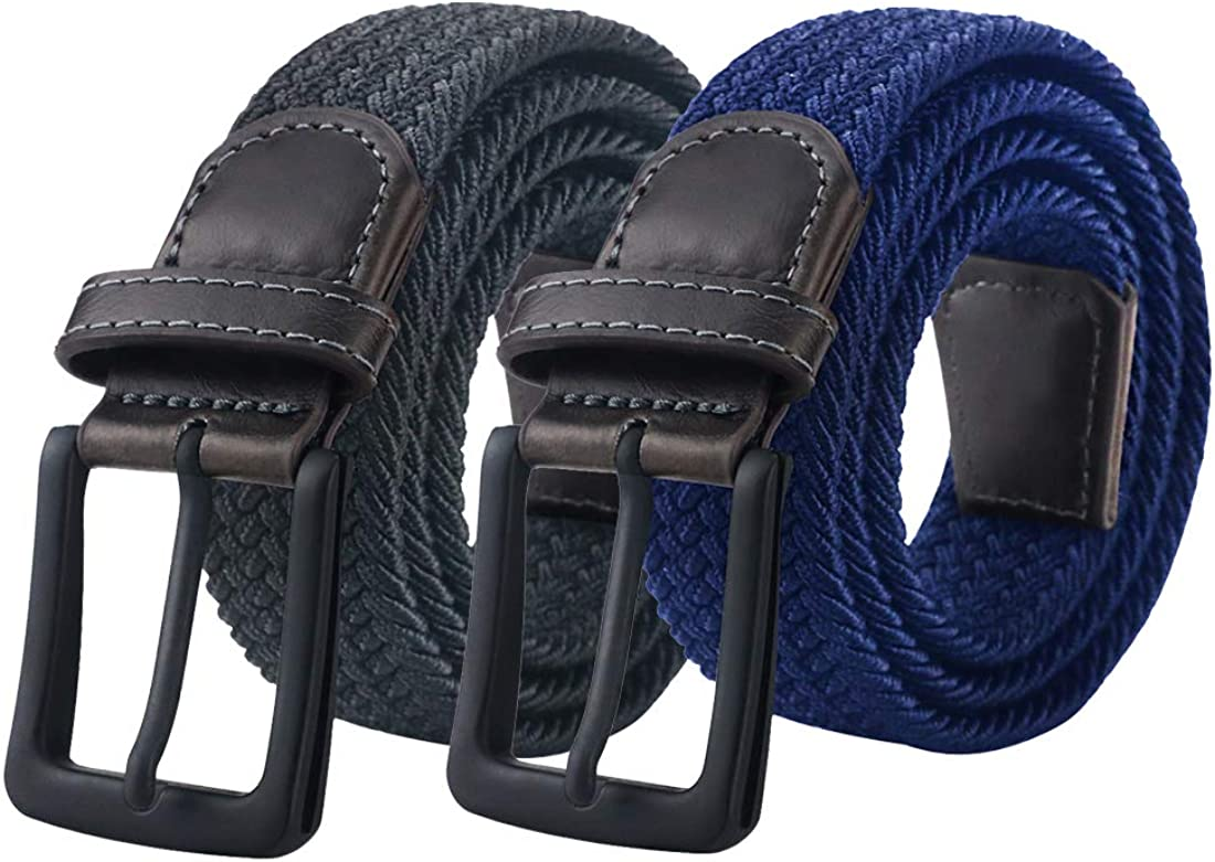 Men/'s Casual Alloy Pin Buckle Leather Braided Belt Waist Band Waistband Strap