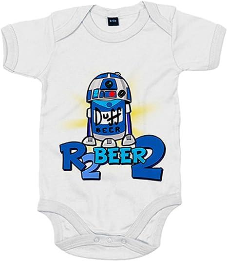 Body bebé parodia R2 Beer 2 R2D2 - Blanco, 6-12 meses: Amazon.es: Bebé