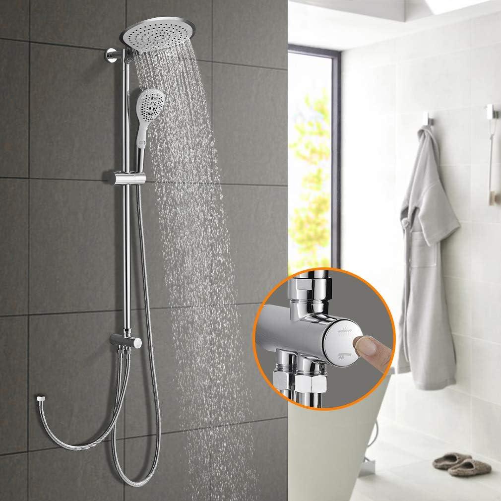 Elegante sistema de ducha con efecto lluvia, sistema de ducha sin ...