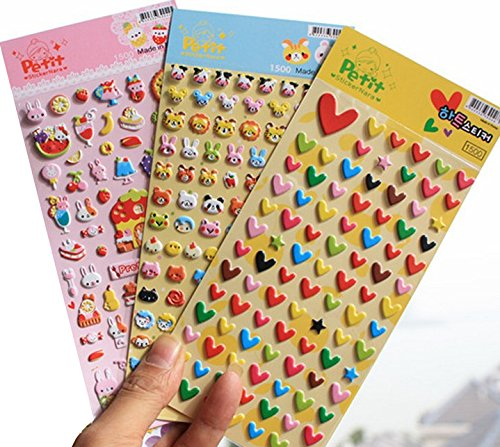 Amazon.com: Cute 3D KAWAII Stickers, Decorative Puffy ...