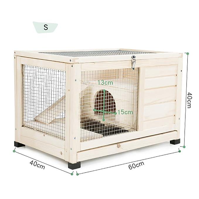 Amazon.com: DJLOOKK - Jaula de conejo para mascotas ...
