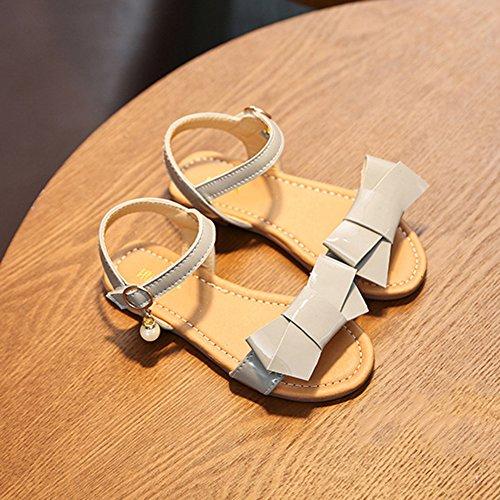 Scothen Niñas strappy sandalias zapatos de verano zapatos casuales zapatos de las sandalias de playa sandalias sandalias romanas los niños zapatos princesa del flip-flop los zapatos la bailarina Gray