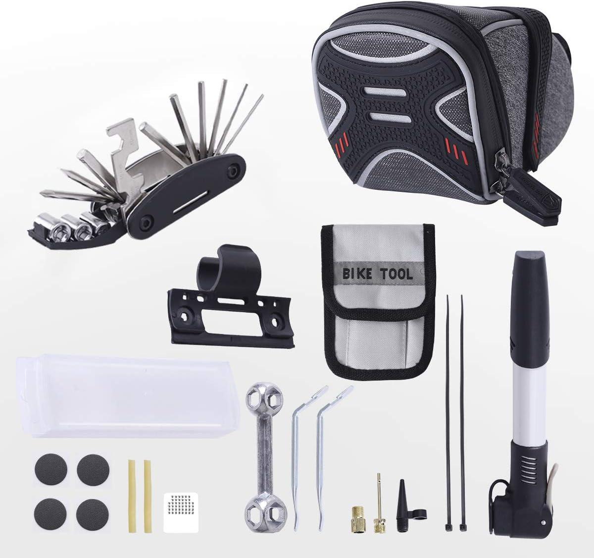 3-H Bolsa de Sillín para Bicicleta con Herramientas Multifuncional ...