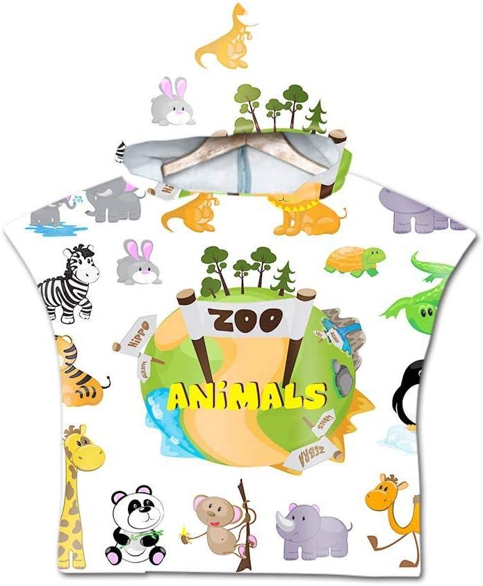 Dinosaurier Stillshine Poncho Mikrofaser Kaputzen Strand Bade Bademantel Dinosaurier-Tier Badetuch Duscht/ücher Handt/ücher Strandt/ücher Bademantel F/ür Kinder