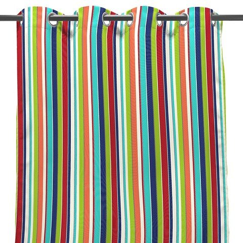 Jordan 50'' x 96'' Outdoor Curtain Panel - Multi-Colored
