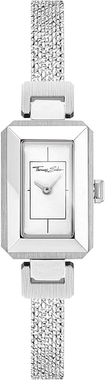 Thomas Sabo Mujer-Reloj para señora Mini Vintage plata Análogo Cuarzo WA0330-201-202-23x15,5 mm