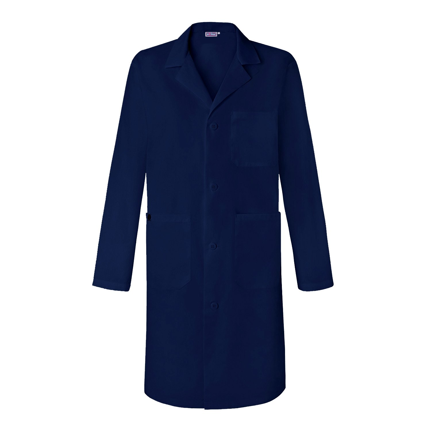 Sivvan Unisex 39 inch Lab Coat - Back Pleated - S8802 - Navy - L