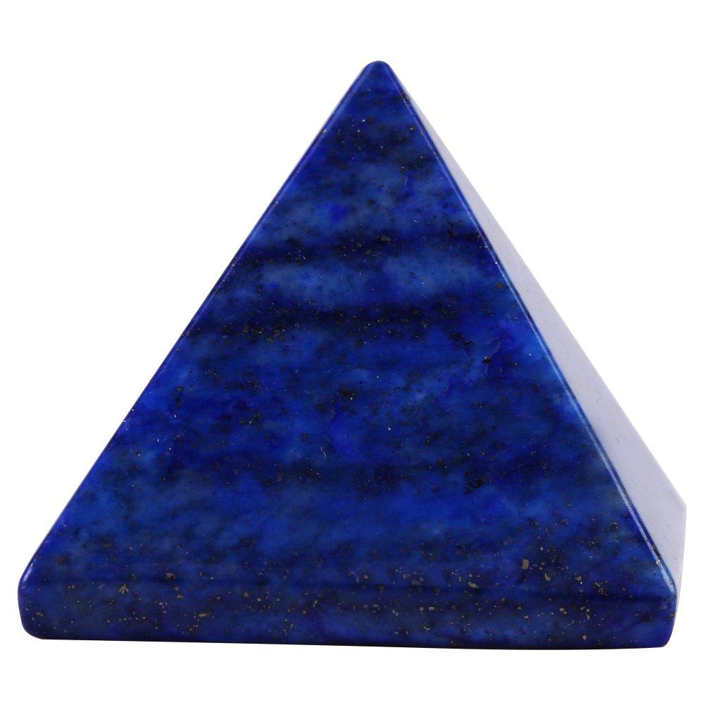 Semme Forma piramidale Naturale Lapislazzuli Quarzo Pietra di Cristallo per Regalo metafisico Home Office Decor Meditazione di guarigione Energia psichica