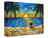 Disney Fine Art Sunset for Minnie and Me 12'' x 16'' Treasures on Canvas Minnie and Mickey Mouse Gallery Wrapped Canvas by Trevor Mezak