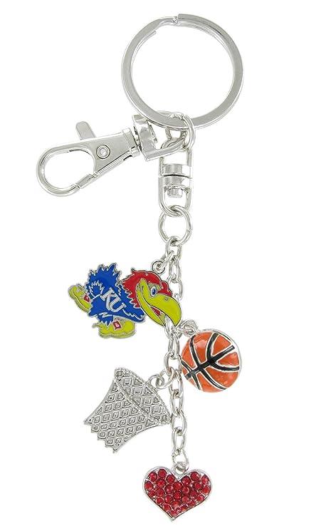 Universidad de Kansas Jayhawks para baloncesto amor clave cadena ...