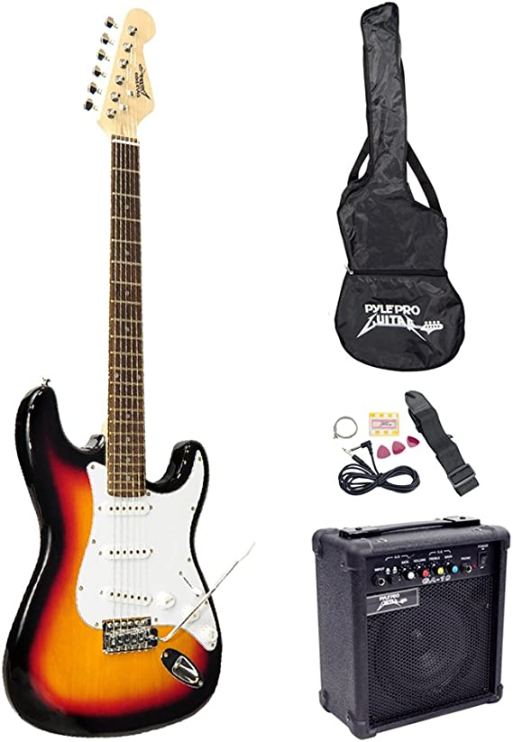 PylePro Full Size Electric Guitar Package w/Amp