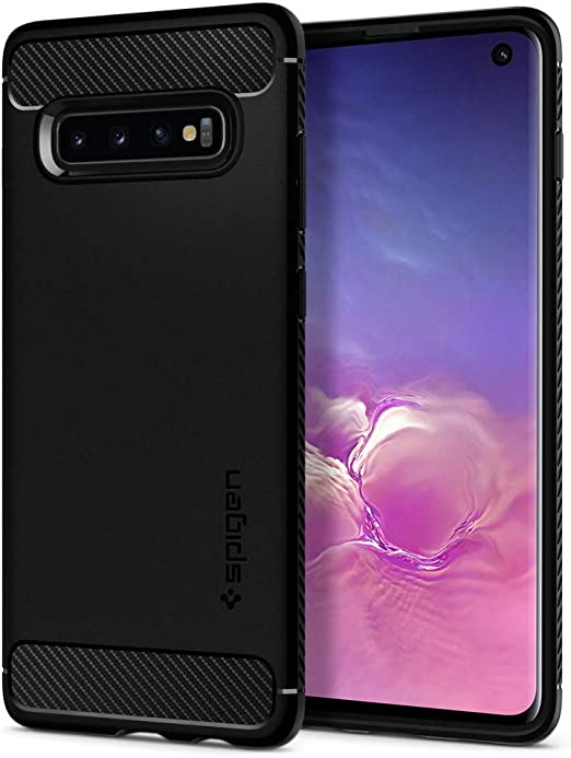 Spigen Coque robuste pour Samsung Galaxy S10 (2019) Noir mat