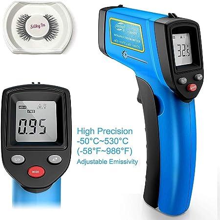 Yongru Thermometre Laser Infrarouge Sans Contact Numerique Avec