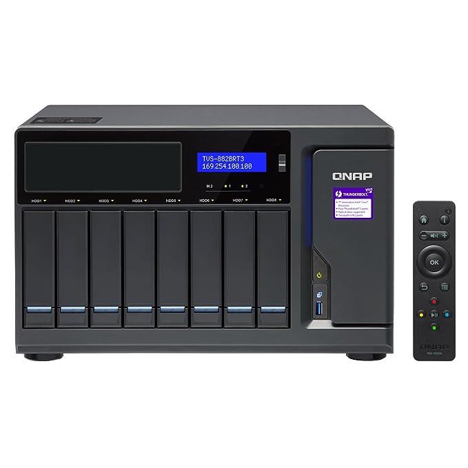 QNAP TVS-882BRT3 Ethernet Escritorio Negro NAS - Unidad Raid ...