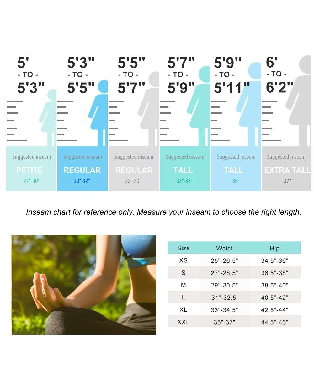 Yogipace 27''/28''/29''/30''/31''/32''/33''/35''/37'' Inseam,Petite/Regular/Tall, Women's Bootcut Yoga Pants Long Workout Pants, 28'', Black Size XXL by Yogipace (Image #3)
