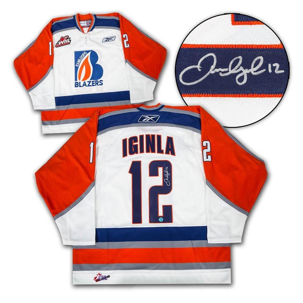 5afa5768856 80%OFF Autographed Jarome Iginla Jersey - Kamloops Blazers CHL - Autographed  NHL Jerseys