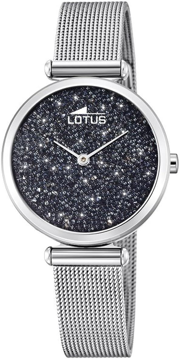 Lotus Watches Reloj Análogo clásico para Mujer de Cuarzo con Correa en Acero Inoxidable 18564/3
