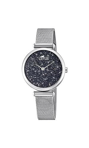 Lotus Watches Reloj Análogo clásico para Mujer de Cuarzo con Correa en Acero Inoxidable 18564/3: Amazon.es: Relojes
