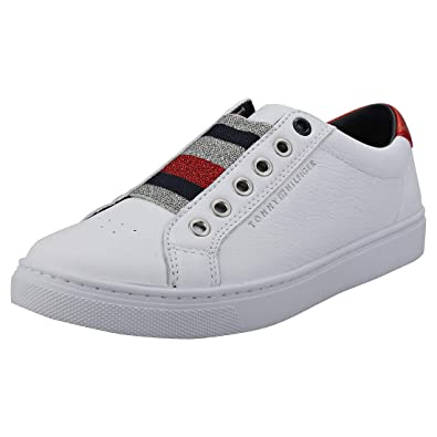 26725d1b25a26 Tommy Hilfiger Elastic Essential Womens Slipon Trainers in White - 36 EU