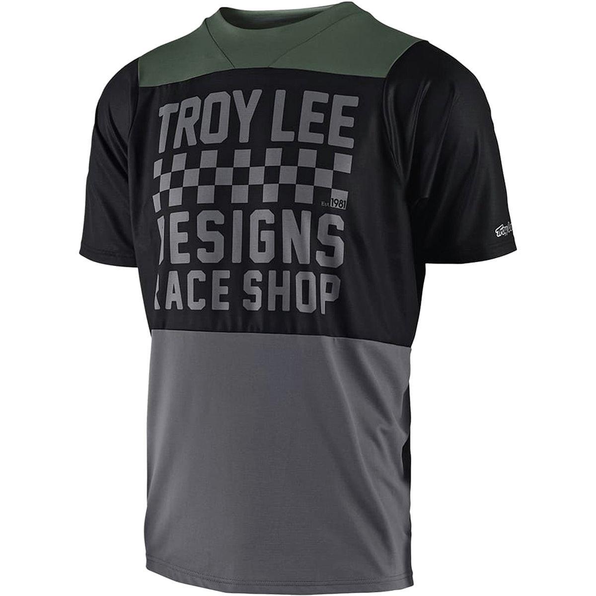 Troy Lee Designs Skyline Short-Sleeve Jersey - Men's Checker Black/Gray, L