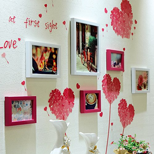 Photo Wall, Picture Frame Wall, Photo Wall Combination, Simple Modern Frame Photo Wall, Living Room Creative Background Wall Photo Wall ( Color : 3# ) by PM PhotoShop Wall