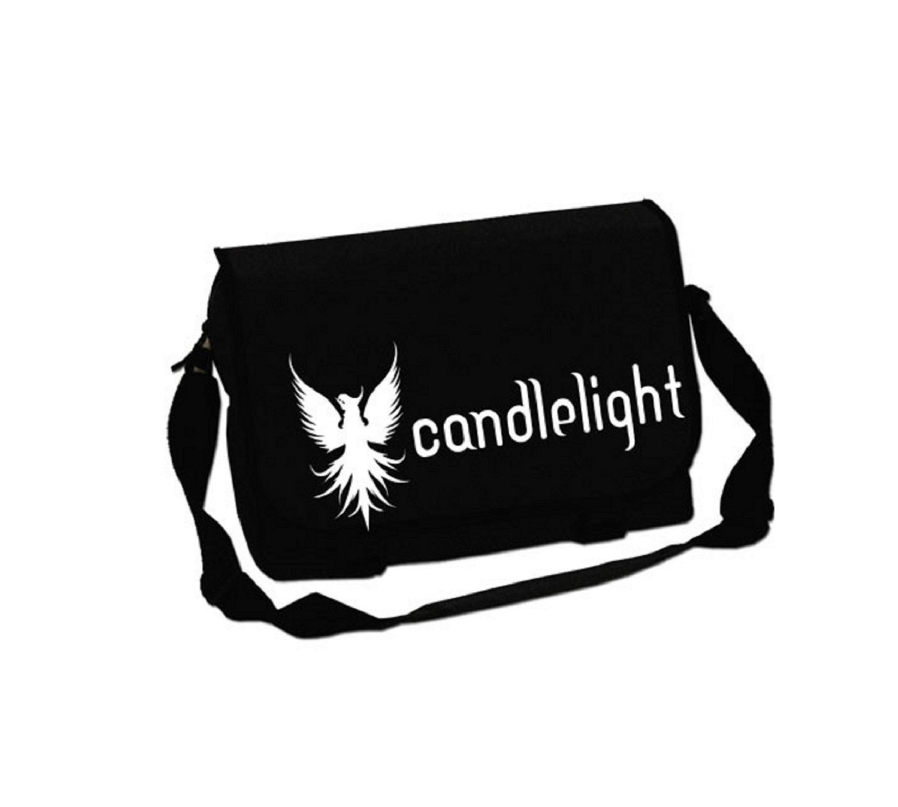 Candle Light Phoenix Official Black Messenger Bag by Candle Light