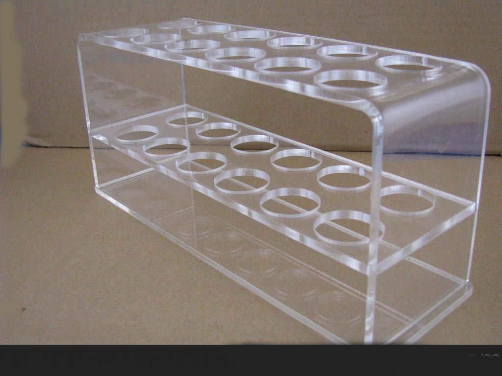 Chiloskit 12/douilles en acrylique Transparent Tube /à essai de rack pour tubes /à essai de 10/ml