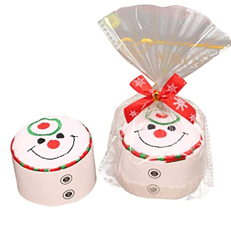 Hilai Decorativos Juego de Toallas Decoración del muñeco de Nieve de la falsificación de Toallas de