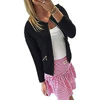 Gillberry Women's Jacket Women's Lattice Tartan Coat Jacket Outwear Blouse