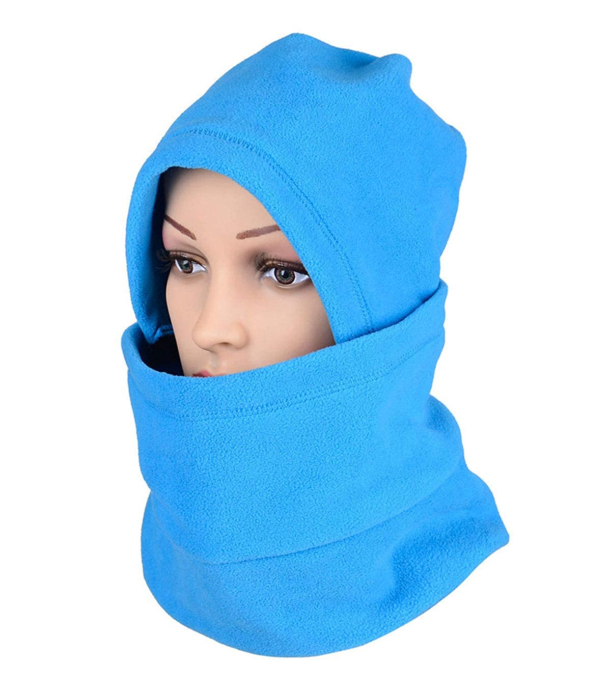 Letusport Fleece Balaclava Hooded Ski Face Mask Neck Warmer Gaiter for Winter Sports Detachable