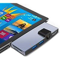 Surface Pro 6/5/4 Docking Staion USB 3.0 hub Surface pro HDMI Hub Adapter Converter RJ45 Gigabit Ethernet LAN Combo with…