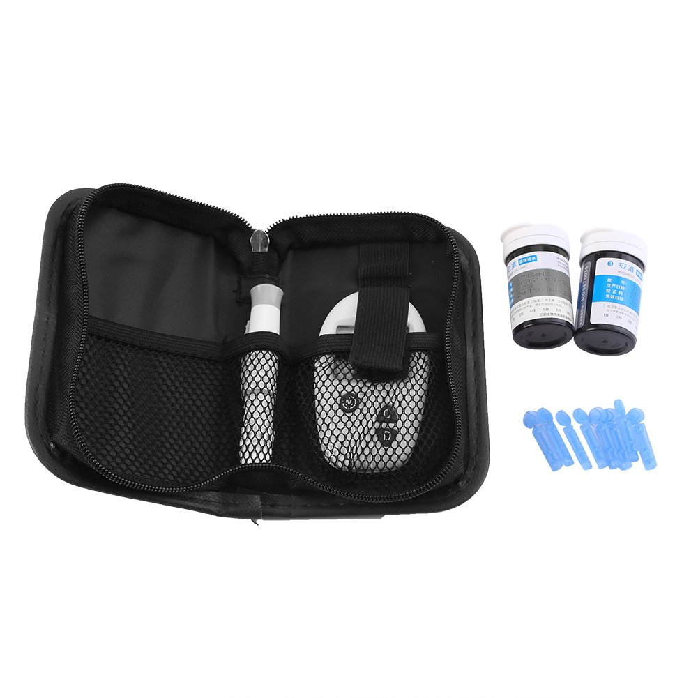 Health Care Home Blood Glucose Monitoring Kit with 50 Test Strips and 50 Lancets