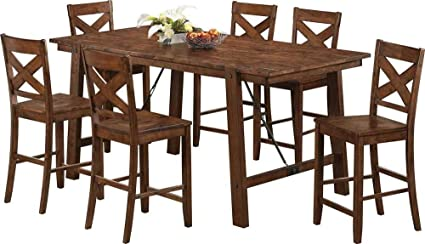 Coaster Home Furnishings Country Counter Height Table, Rustic Oak