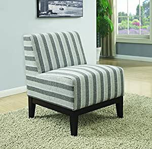 kitchen accent furniture amazon com coaster home furnishings 902610 thick stripe accent chair null grey kitchen dining 7351