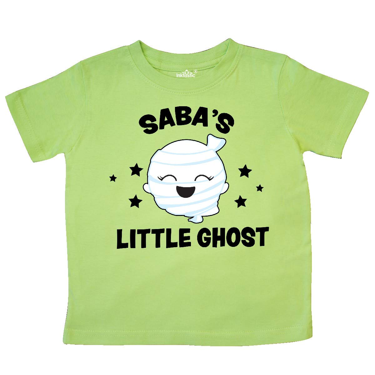 inktastic Cute Sabas Little Ghost with Stars Toddler T-Shirt