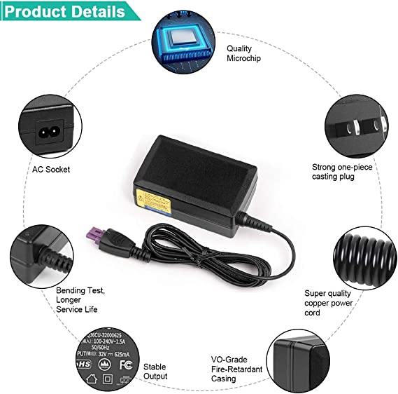 32V 625mA 0957-2269 Stampante Alimentatore chargefor HP Photosmart Plus All-in-One