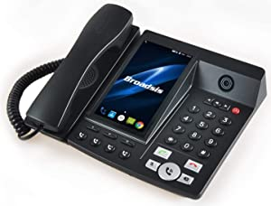 Portable Wireless Desk Phone-4G&WiFi-Android (Black) (BROADSIS)