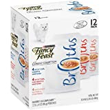 Purina Fancy Feast Broths Adult Wet Cat Food Complement Variety Packs - 12 (1.4 oz. Pouches) (3 Flavor Classic Broth Collecti