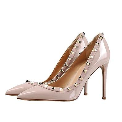 34b1f56fe5f Amazon.com | Mermaid Women's Shoes Pointed Toe Stiletto Heels Spiked ...