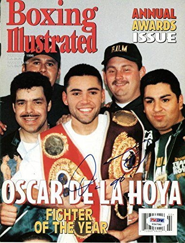 Bell Sports Oscar De La Hoya Signed Boxing Magazine Cover...