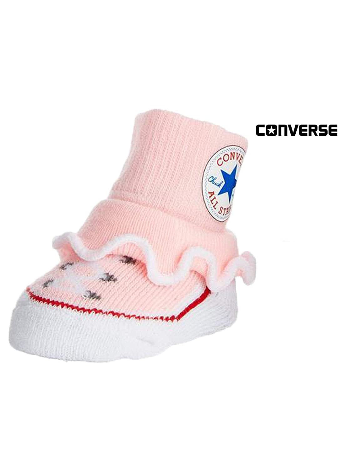 ad8c849138c1 Amazon.com  Converse Baby Booties Set for Infant Boys and Girls (0-6 Months)   Clothing