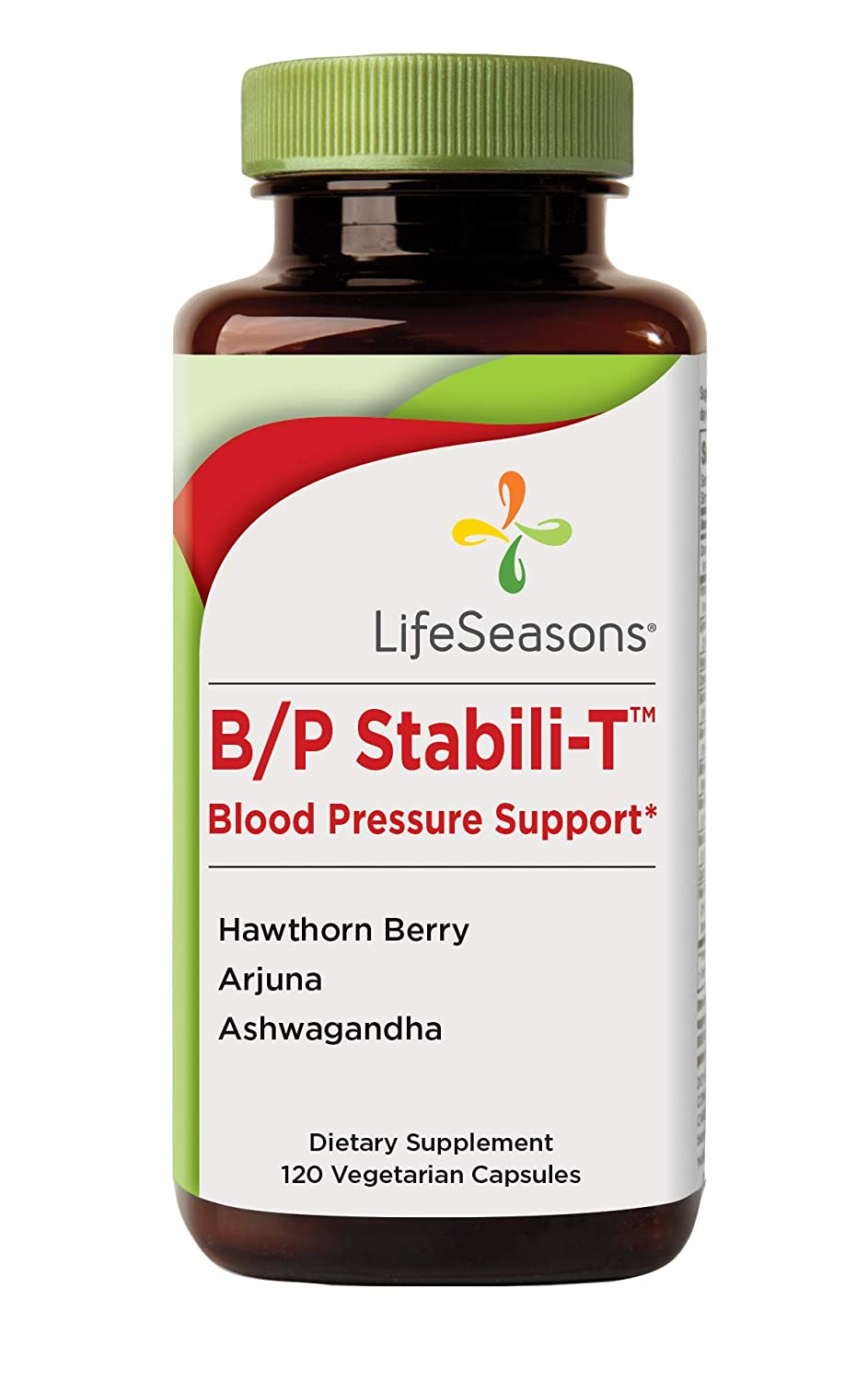 Life Seasons – B P Stabili-T – Blood Pressure Supplement – Helps Prevent Plaque Build Up – Improves Cardiovascular Health and Blood Circulation – with Ashwagandha, Hawthorn Berry 120 Capsules
