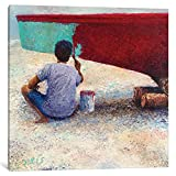 iCanvasART My Thai Boat Painter Gallery Wrapped Canvas Art Print by Iris Scott, 37'' x 0.75'' x 37''